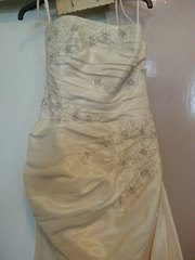 stunning ivory size 12/14 wedding dress (never worn )